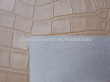 Alligator grain faux eco leather material