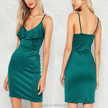 Summer Sexy Women Clothing Cami Strap Backless Bodycon Mini Dress