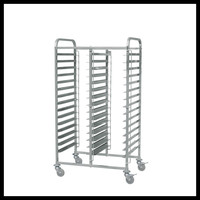 32 Trays Stainless Steel Baking Trolley for Rotary Oven