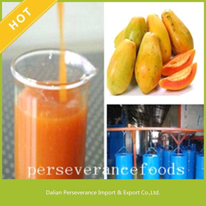 Delisious High Quality Liquid Papaya Juice Concentrate For Papaya Juice