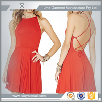 backless europe designer one piece girls fashion red party dresses