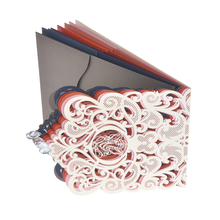 Wholesale OEM logo printing luxury customized design laser cutting wedding invitation card