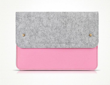 "wholesale felt notebook cases cheap 13.5 "" felt laptop sleeves with interlayer"