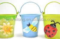Garden Mini Bucket Children Gift Round Flower Planter Toy Mini Pail