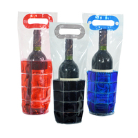 high quality plastic pvc gel wine bottle cooler bag sleeve