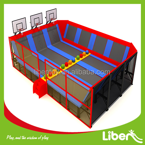 gymnastic sport cheap rectangle trampoline bed combo for kids sales with safety enclosure net and handle