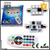 Car Interior Dome Festoon Light RGB 5050 6SMD LED Panel Dome Light Auto Remote Controlled Colorful Led Lamp DC 12V