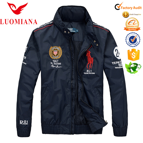 Lightweight Nylon Windbreaker Jacket With Embroidered Logo For Men Play Golf Outdoor Sport Jackets Embroidery Tour Jacket