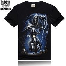 YIWU 2015 OEM ROCKSIR Ghost Rider organic cotton t-shirt sewing machine price boys t-shirt
