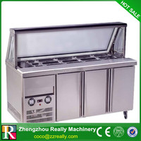 Stainless steel refrigerated salad bar,salad bar,salad bar with cabinet
