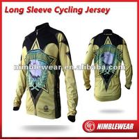 2012 Nimblewear New Arrival Pro full digital sublimation long sleeve cycling jersey,cycling wear,cycling top