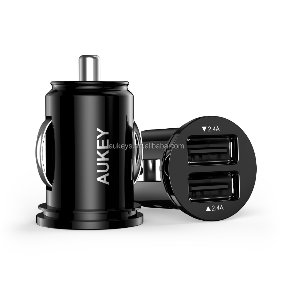 Aukey 2 Port Dual USB 12V 24W Car Charger
