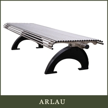 Arlau garden arch with bench,bench with umbrella,outdoor pubic bench