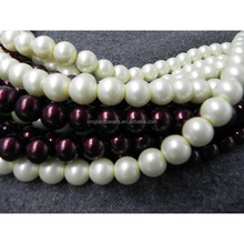 12MM round synthetic loose akoya oyster pearl glass beads for wedding dress
