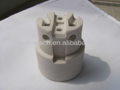 Hot Sale!!! E10,E12,E14,E27,E40 Edison screw CE approved porcelain lamp socket 519-8