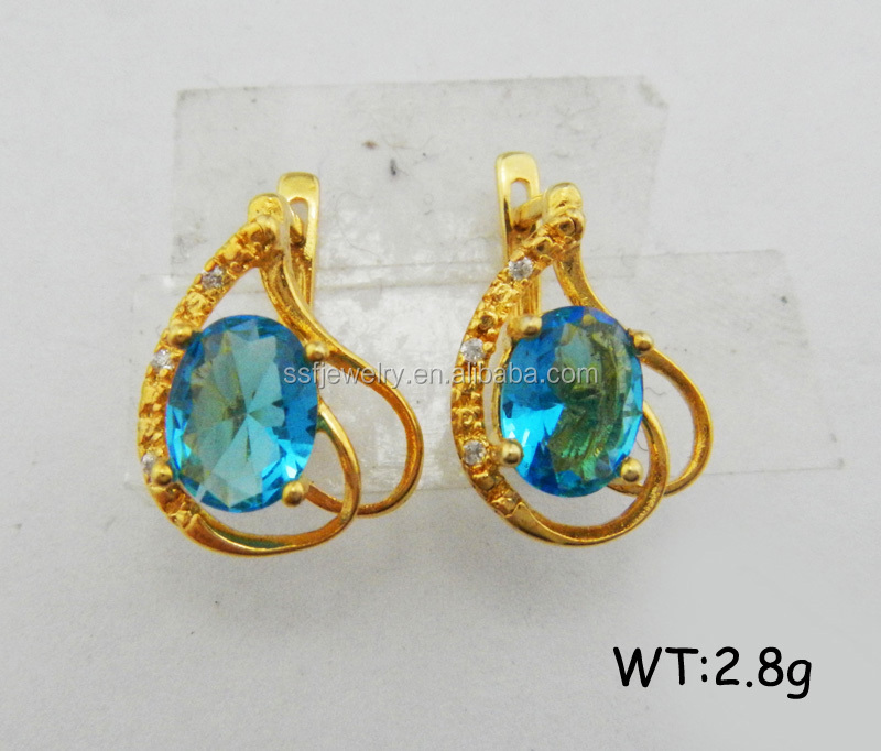 SE0936 china cheap jewelry factory 14k gold earrings manufacture