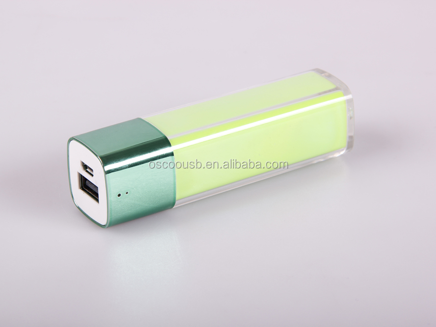 powerbank 2600 mah for sales promotion fast delivery for christmas gift