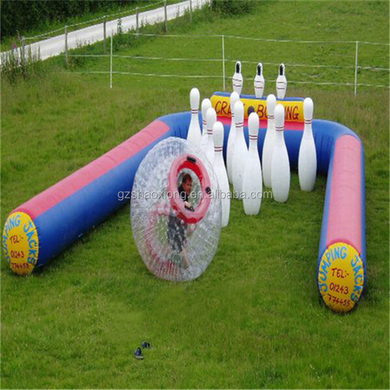 Free accessories inflatable bowling alley/inflatable bowling ball/ giant inflatable ball
