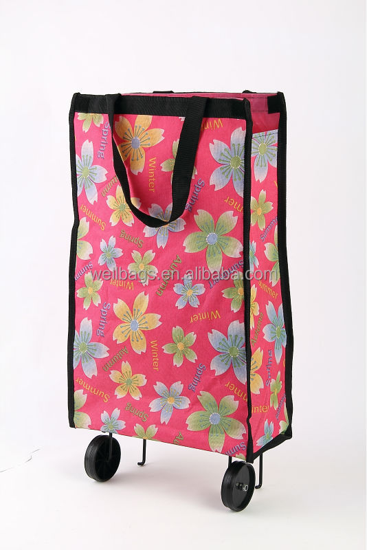 laminated pp woven wheels bag