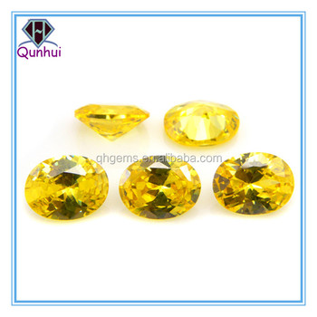 any color oval shaped cubic zirconia stone