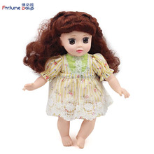 New fashion baby 12inches doll reborn silicone doll with flower skirt for kids