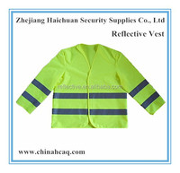 100% Polyester Security Guard Reflective Safety Vest with Long Sleeve