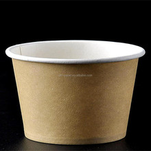 Custom printed 6oz ice cream paper cup with PET lid