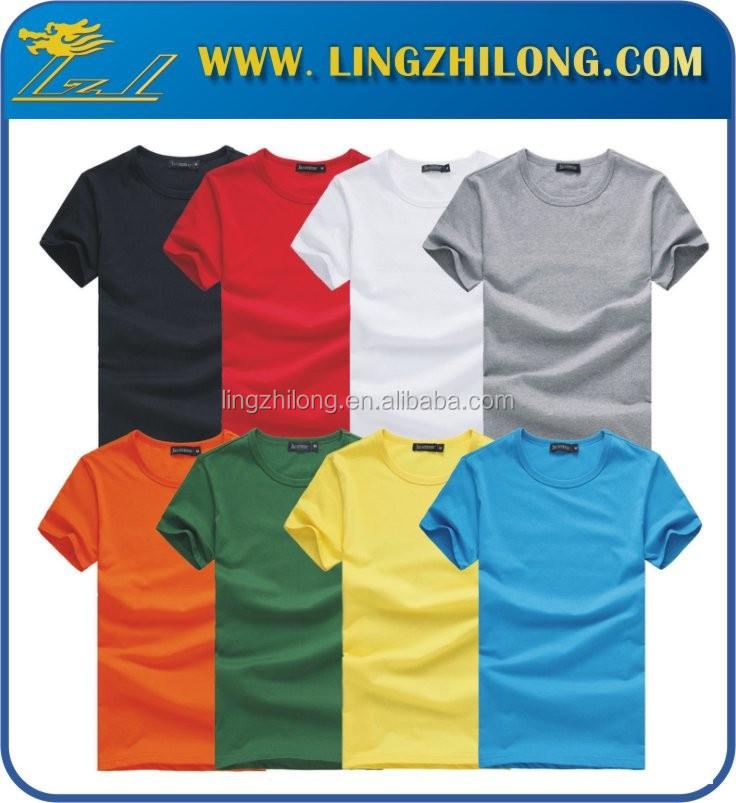 Custom Bulk Price Oem Cotton T Shirt Colorful Blank T