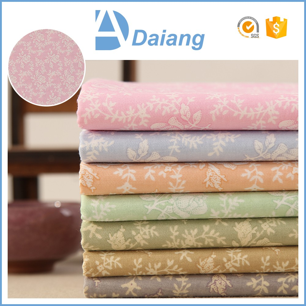 stock wholesale cheap custom flower 40s twill 100% cambric cotton printed fabric
