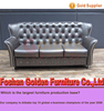 Luxury blue leather crystal sofa for sale