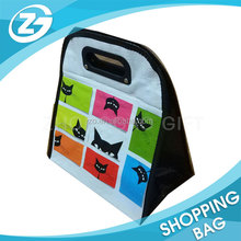 Promotional cute water bottle thermal pp woven cooler bag