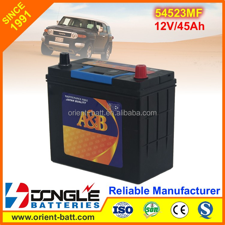 2016 Hot Sale Korean Quality Car Battery MF54523