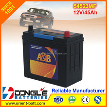 2017 Hot Sale Korean Quality Car Battery MF54523
