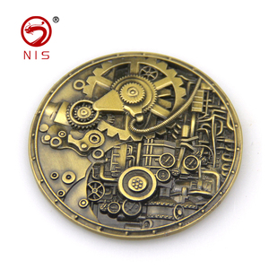 Custom exclusive design metal gold brass 3d souvenir antique old coin