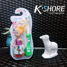 Soft bristle Type doll kids toothbrush