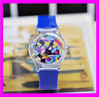 JC0151 Latest design blue abstract geometric montre watch