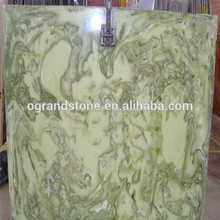 Green Jade Stone, Jade Decorative Pattern Artificial Stone Slabs