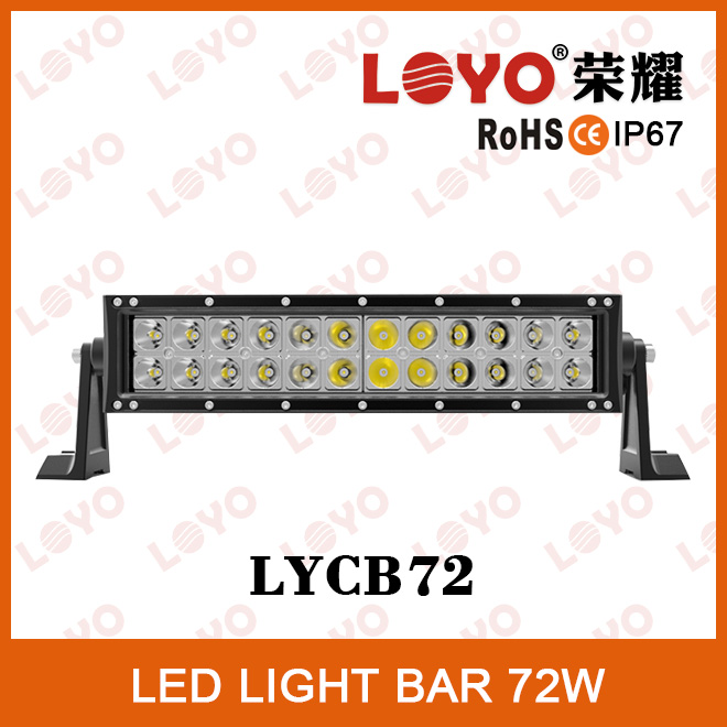 Top sale 72W IP67waterproof tractor curved led light bar
