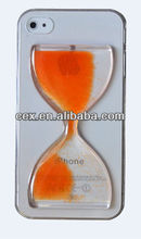 Wholesales Crystal Sandglass Hourglass Design Floating Bead Protective Case Cover for Apple iPhone 5 5s