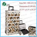 ABS pc Trolley aluminum cosmetic case makeup trolley case