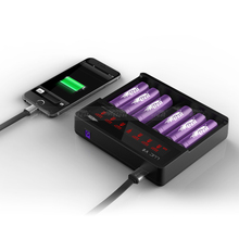 mobile phone charger intelligent lcd 6 bay efest charger efest luc v6 charger