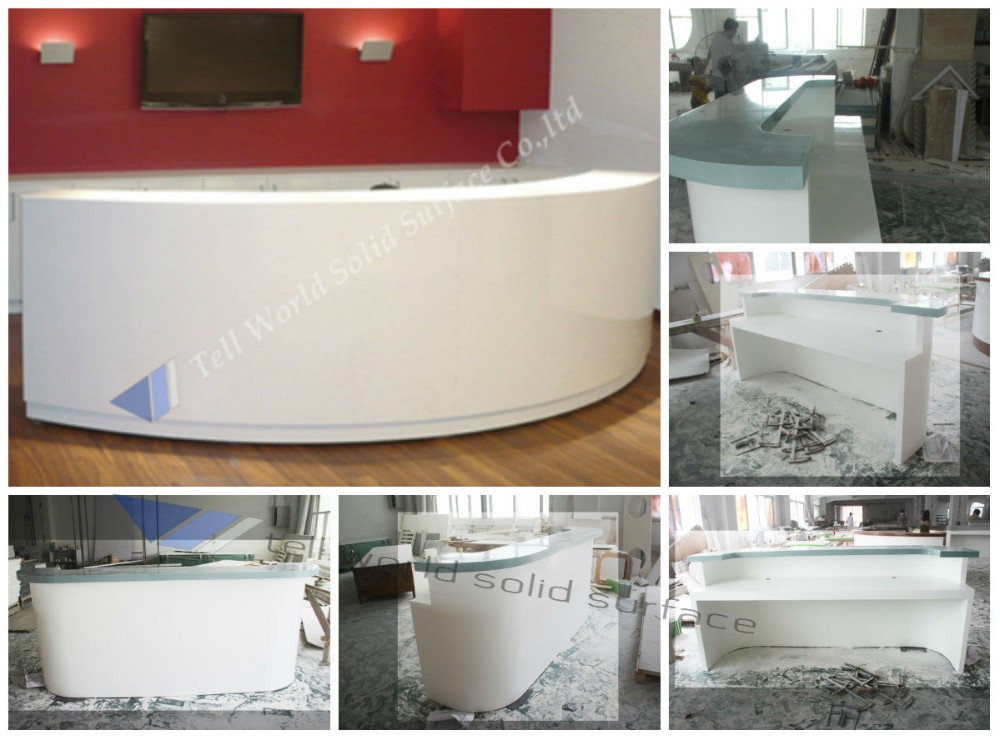 2015 Hot Sale Acrylic Recetion Counters Clinic Reception