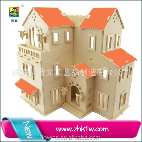 2016 Cotowins Dutch stlye Villa wooden indoor house toy construction kit for <strong>kids</strong>