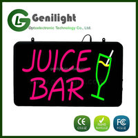 2016 New LED Neon Sign Product JUICE Bar Led Neon Sign Custom Design Acrylic Material / LED Neon Sign Wholesaler
