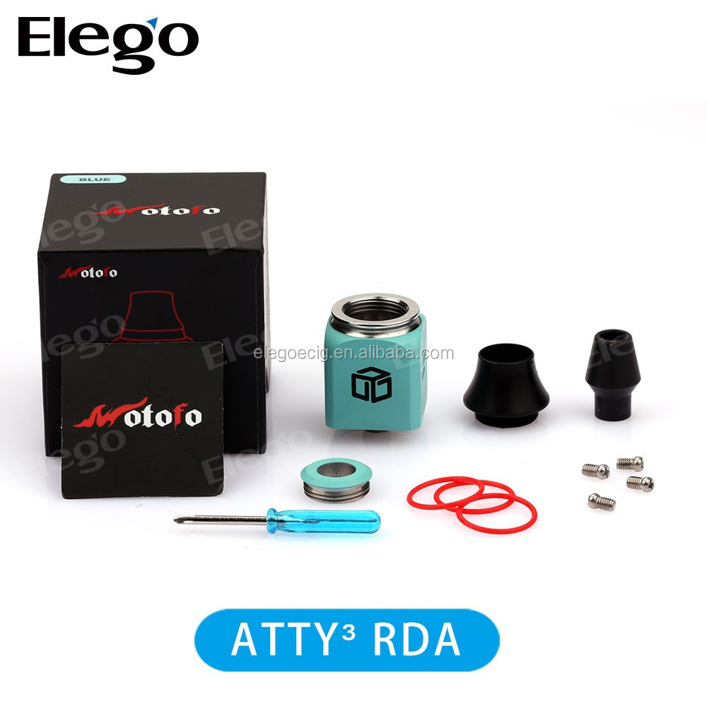 New ATTY3 RDA Rebuildable atomizer Atty 3 square Magic Cube rda atomizer from Elego