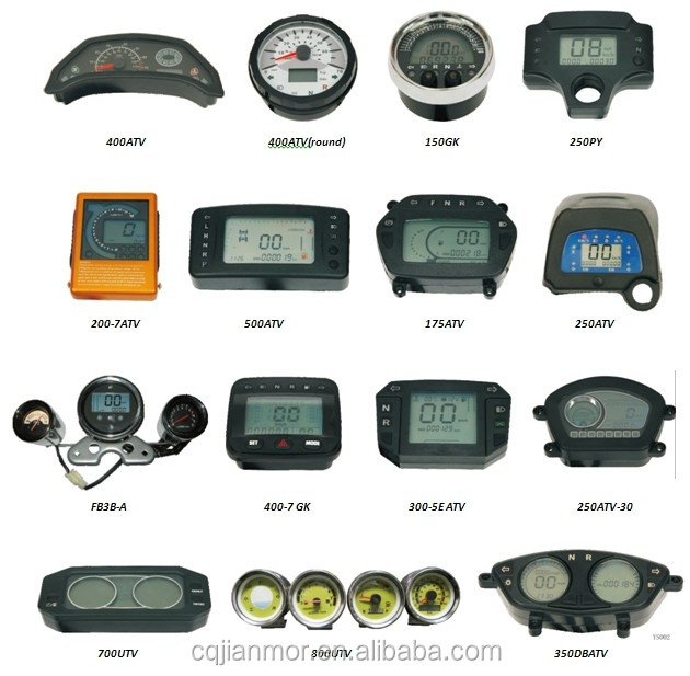 LCD display digital meter for motorcycle/ATV/UTV speedometer for LF Tiger2000