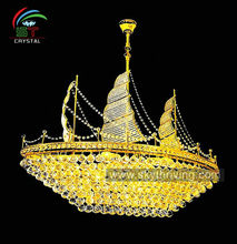italian K9 crystal chandeliers lamp with ship modeling