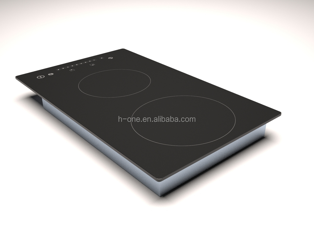 Double domino induction cooker, induction cooker ceramic glass for kitchen and home appliances