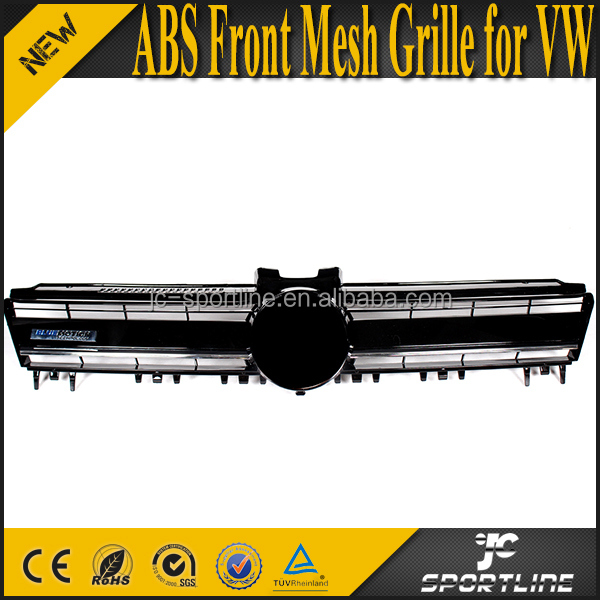 ABS Front Hood Honeycomb Mesh Grille for VW Golf Mk7 VII 14-15