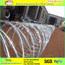 Concertina Wire 600mm Diameter Price, Concertina Razor Wire with red handle